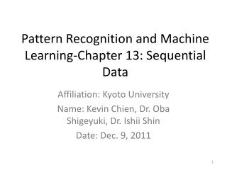 Pattern Recognition and Machine Learning-Chapter 13: Sequential Data