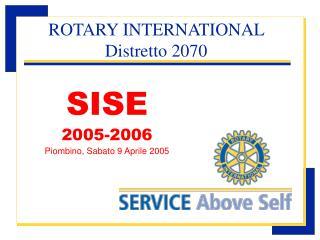 SISE 2005-2006 Piombino, Sabato 9 Aprile 2005