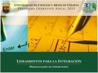 Lineamientos para la Integración Presentación en power point