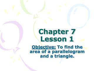 Chapter 7 Lesson 1