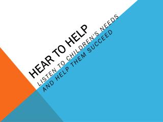 Hear to Help