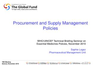Procurement and Supply Management Policies