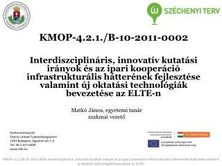 KMOP-4.2.1./B-10-2011-0002