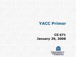 YACC Primer