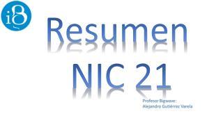 Resumen  NIC 21