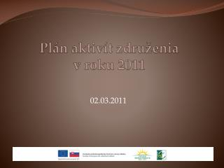 Plán aktivít združenia v roku 2011