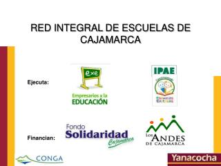 RED INTEGRAL DE ESCUELAS DE CAJAMARCA