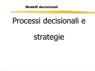 Modelli decisionali