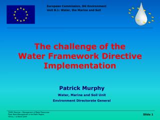 The challenge of the  Water Framework Directive Implementation