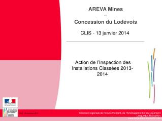 AREVA Mines  –  Concession du Lodévois