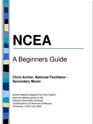 NCEA A Beginners Guide