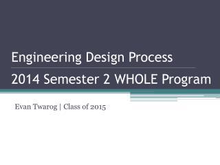 Evan  Twarog  | Class of 2015