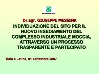 Dr.agr. GIUSEPPE MESSINA