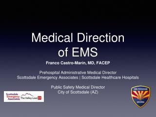 Medical Direction of EMS