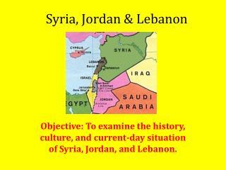 Syria, Jordan & Lebanon