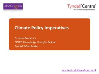 Climate Policy Imperatives