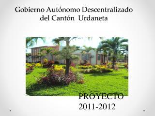 Gobierno  Autónomo Descentralizado del Cantón  Urdaneta