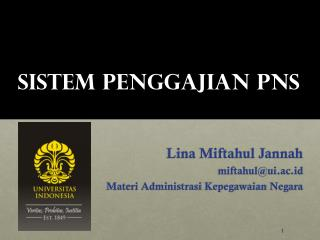 Sistem Penggajian PNS