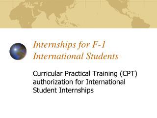 Internships for F-1 International Students