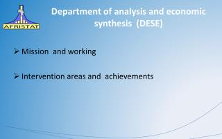 Department  of  analysis  and  economic synthesis   (DESE)