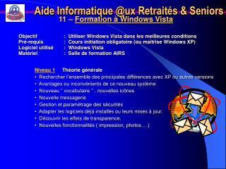 Aide Informatique @ux Retraités & Seniors