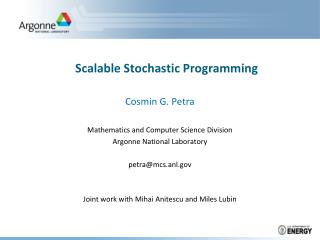 Scalable Stochastic Programming
