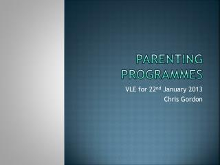 Parenting programmes