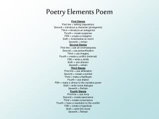 Poetry Elements Poem