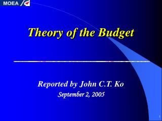Theory of the Budget