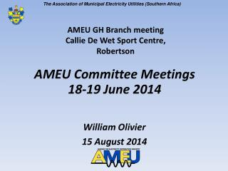 AMEU Committee Meetings 18-19 June 2014