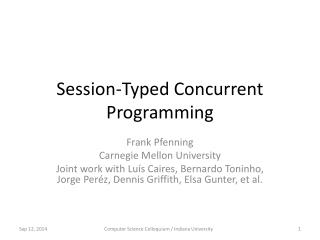 Session-Typed Concurrent Programming