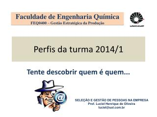 Perfis da turma 2014/1