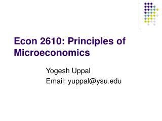 Econ 2610: Principles of Microeconomics