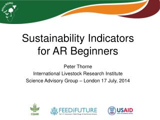 Sustainability Indicators for AR Beginners