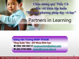 Giảng viên Trường ĐHSP TP.HCM Tống Xuân Tám - GV Khoa Sinh học