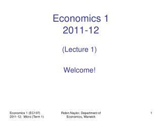 Economics 1 2011-12