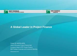 A Global Leader in Project Finance
