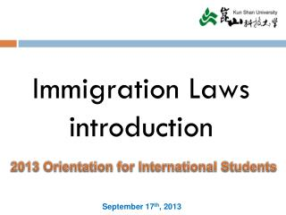 Immigration Laws introduction