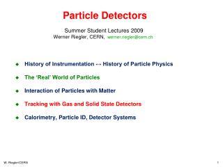 Particle Detectors