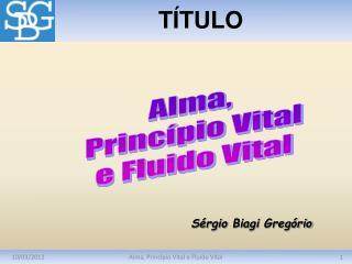 Alma, Princ pio Vital e Fluido Vital