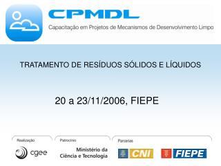20 a 23/11/2006, FIEPE