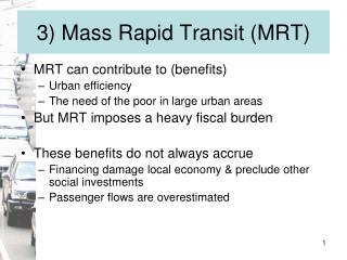 3 Mass Rapid Transit MRT