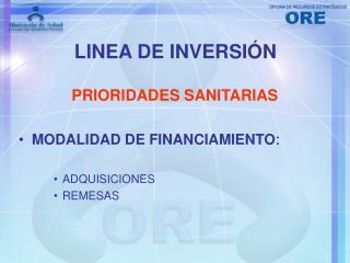 LINEA DE INVERSIÓN