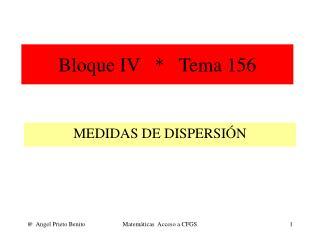 Bloque IV   *   Tema 156