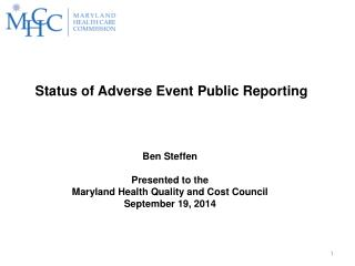Status of Adverse Event Public Reporting