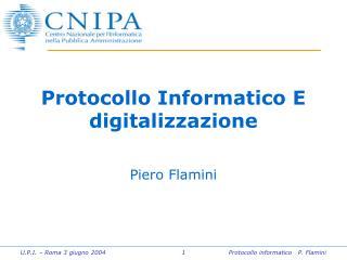 Protocollo Informatico E digitalizzazione