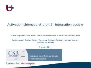 Activation chômage et droit à l'intégration sociale