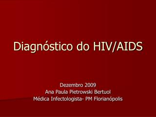 Diagn stico do HIV