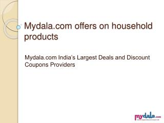 Online offers on household products