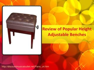 Review of Popular Height Adjustable Benches